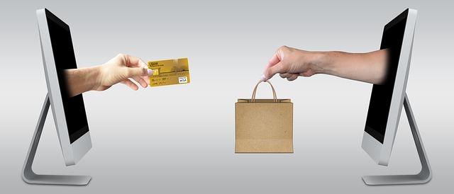 Online nákupy ilustrace