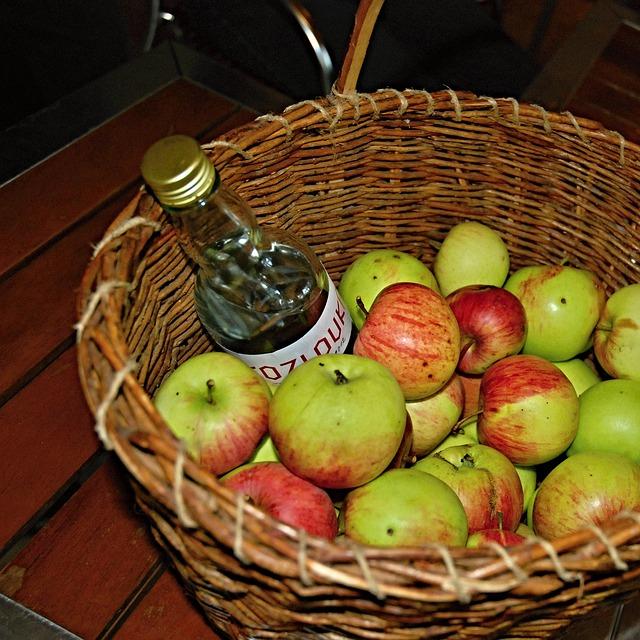 Jablka a alkohol